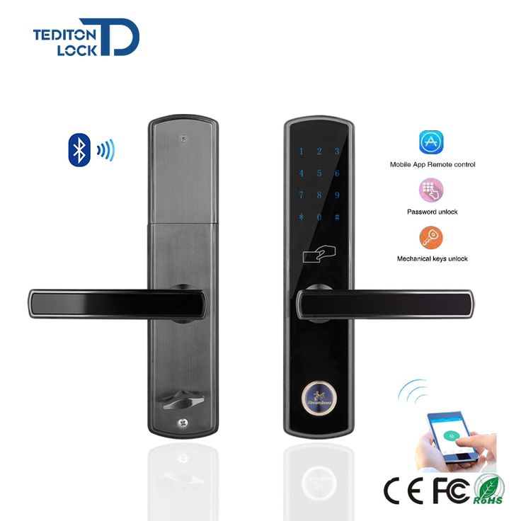 Touch Screen Password Bluetooth Digital Safe Lock Door With Mobile App Remote Control for home and apartment