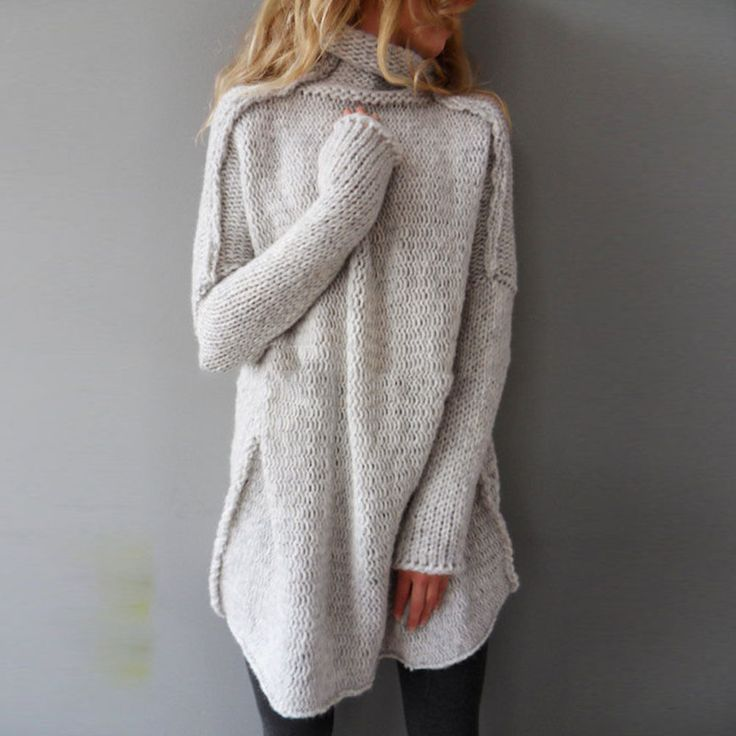 ファッション秋のセーター2017女性ニットプルオーバータートルネック長袖ルーズニットカジュアル固体ジャンパープルファム