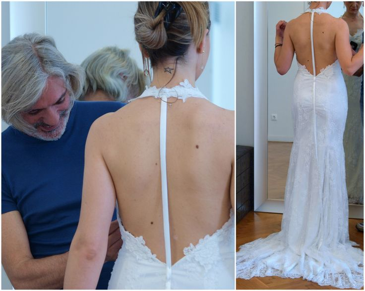 Hand made wedding dress on the spur of the moment.