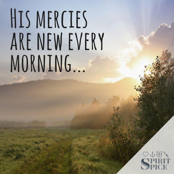 Great is thy faithfulness! Read Lamentations 3:22-23 #myspiritspice #Hismercy #Love #behappy