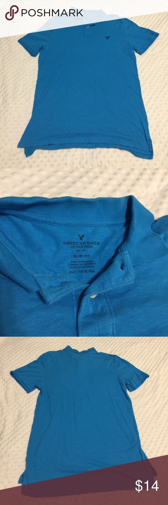 American Eagle Men's Polo Shirt American Eagle Men's Polo, Men's XLT, Slim Fit. American Eagle Outfitters Shirts Polos