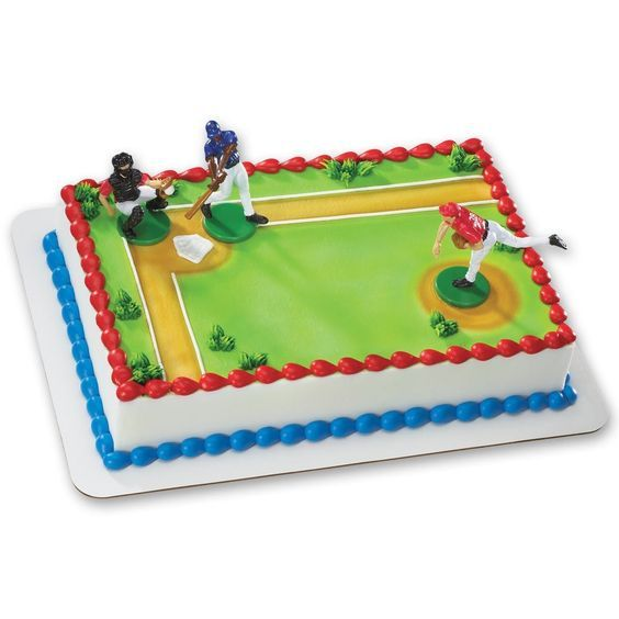 Baseball-Batter Up DecoSet Cake Decoration * Details can be found by clicking on the image.