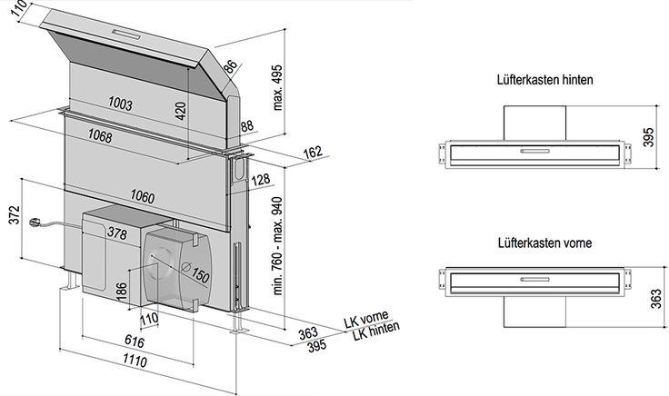 Die versenkbare Dunstabzugshaube Moveline|berbel Ablufttechnik GmbH