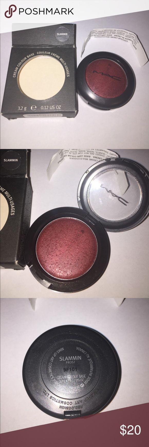 MAC COSMETICS BNIB SLAMMIN Cream Colour Base LE Firm Price. No trades. Thanks! MAC COSMETICS BNIB SLAMMIN Frost Cream Colour Base, very rare!!! Has a little moisture on top of product. CCB tend to attract moisture on top. Gorgeous very rare color. MAC Cosmetics Makeup Blush