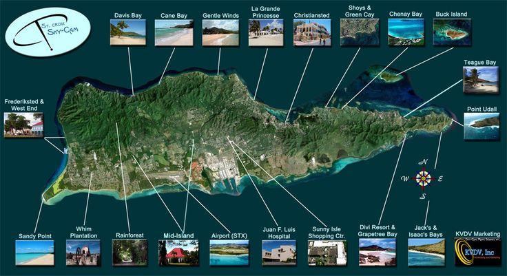 Sky-Cam aerial views of St. Croix Virgin Islands.
