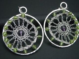 Silver earrings,