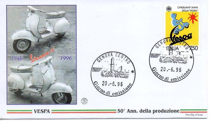 Repubblica Italiana 1996 FDC Filagrano Vespa