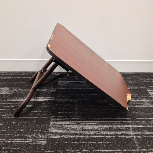WWE Auction | Piece of used broken mini table signed by 3MB ...