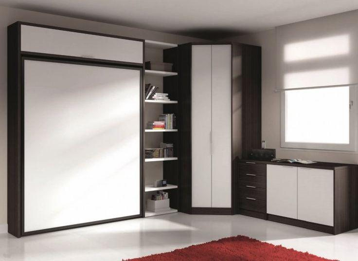 52 best armoire lit gain de place images on pinterest. Black Bedroom Furniture Sets. Home Design Ideas