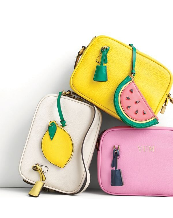 The J.Crew women's signet bag. Add some personal flavor—with a zipper fruit pouch or a deliciously witty monogram.