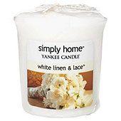 Yankee Candle Votive, White Linen & Lace