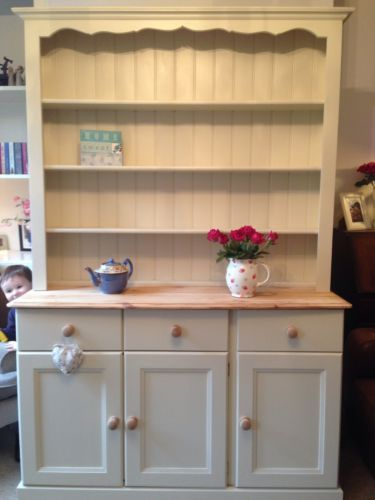 Solid Pine Welsh Dresser...painted with Farrow & Ball Off White #3.