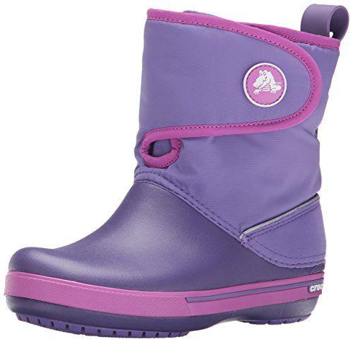 awesome Crocs Crocband II.5 Gust Boot Kids - Botas de agua con forro infantil, - Bleu (Blue Violet/Wild Orchid), 30/31