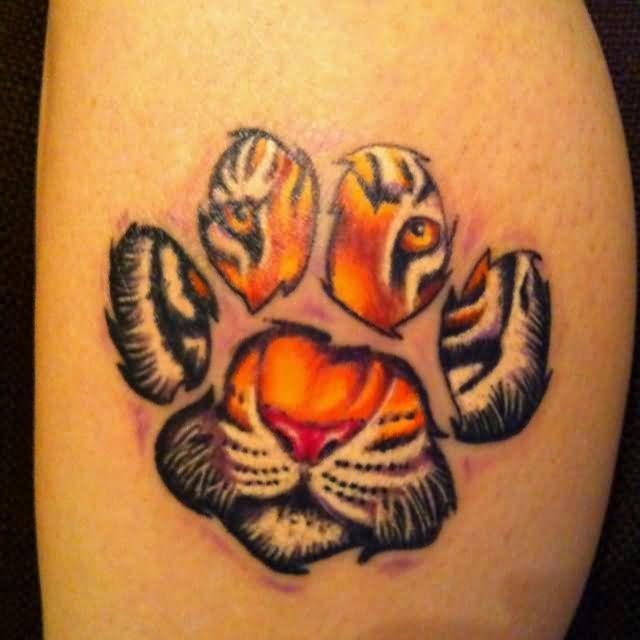 best 25 tiger print tattoos ideas on pinterest pet memorial tattoos husky tattoo and tiger. Black Bedroom Furniture Sets. Home Design Ideas
