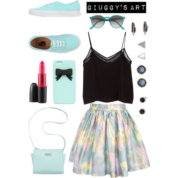 Fresh Mint by giuggysart on Polyvore featuring polyvore, moda, style, MANGO, Vans, Marc Fisher, With Love From CA, J.Crew and MAC Cosmetics