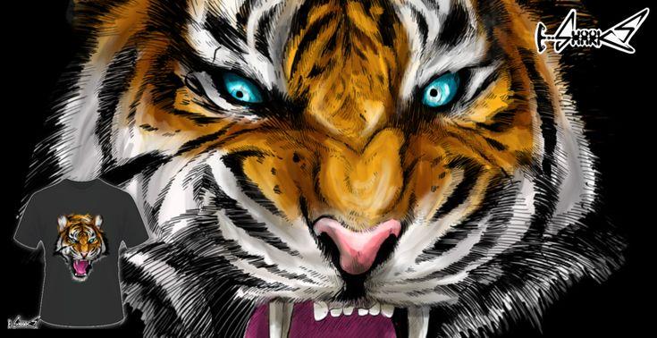 Magliette+Ferocious+Tiger+-+Disegnato+da+:+Lou+Patrick+Mackay