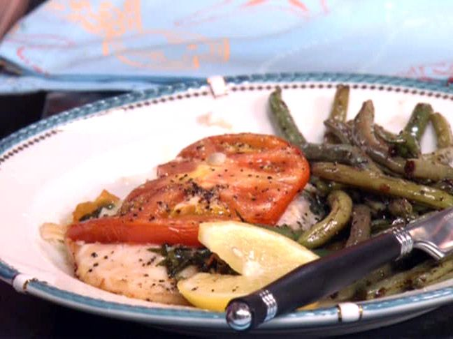 Baked Tilapia with Tomato and Basil Recipe : Paula Deen : Food Network - FoodNetwork.com