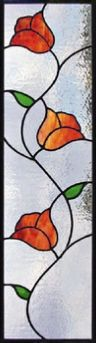 modern flower transom | Stained Glass Windows, Mosaics & Stained Glass Pet Portraits