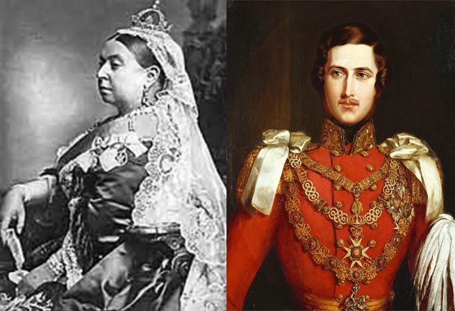"""Reina de Victoria y Alberto de Sajonia, fueron amantes antes de casarse, tuvieron 9 hijos.  Ella se sentía acomplejada por su poca gracia y belleza frente a otras jóvenes de la corte que estaban """"al asecho de su  hermoso esposo"""".  La fealdad de la reina, la compensó con una astucia sin igual para ejercer la política.  Su esposo murió 20 años después de casarse y ella conservó el luto hasta su muerte; se dedicó a la jardinería en su finca de Escocia en compañía de su sirviente Jhon Brown"""