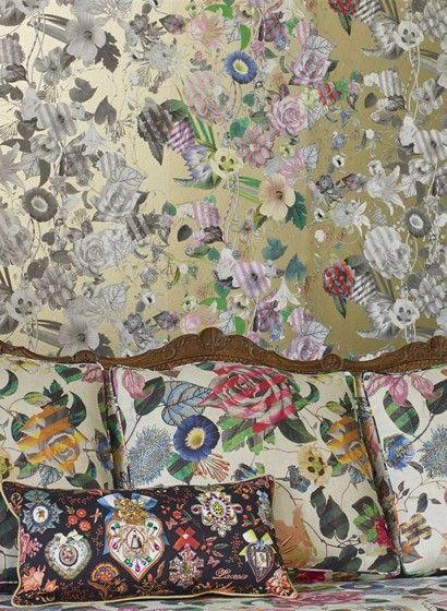 tapeten mit floralen motiven 115 pinterest. Black Bedroom Furniture Sets. Home Design Ideas