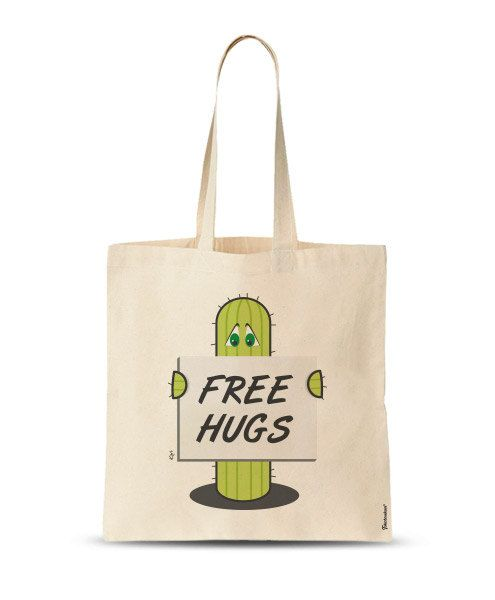 FREE SHIPPING Cute Tote Bag Free Hugs Bag Market Bag by store365
