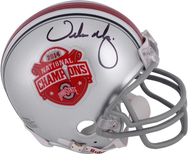 Urban Meyer Ohio State Buckeyes Autographed Riddell 2014 National Champions Mini Helmet - Fanatics Authentic Certified