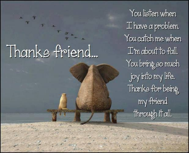 Daily Quotes: Thanks Friend ~ Mactoons Inspirational Quotes Gallery