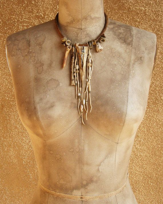Desert Primitive Amulet Pouch and Artifact by deserttalismans, $365.00