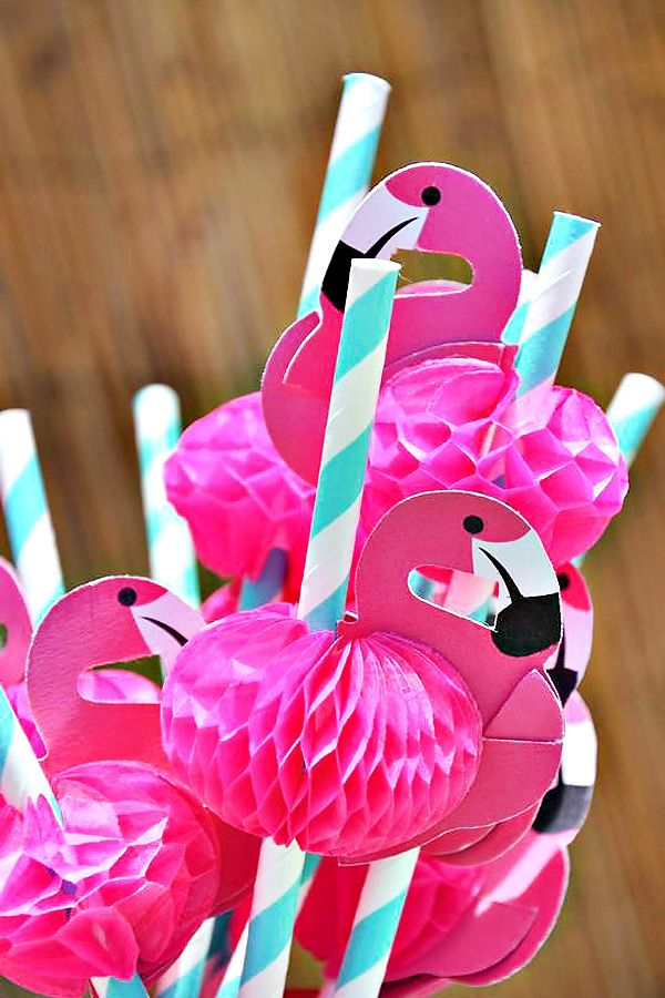 Fun Flamingo straws - Great for a pool party