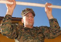 Military Tips for a Better Pull Up | The Proper Pull-up (Regular Grip), Pull-ups (Negatives), Assisted Pull-ups, Pulldowns, Dumbell Rows, Bicep Curls