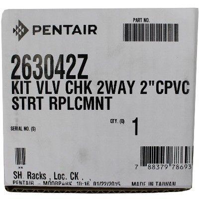 "NEW Pentair 263042Z CPVC 2/"" 2-Way Pool Spa Check Valve Diverter Replacement Kit"