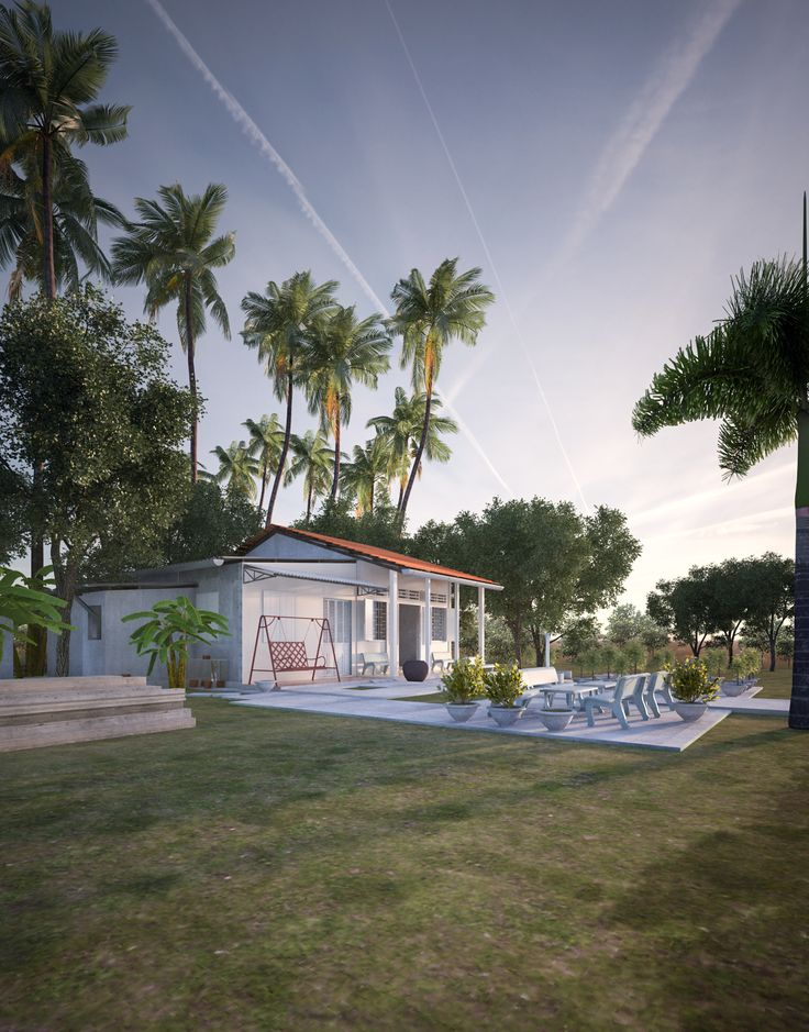 my home - Ben Tre - Vietnam.  by Sketchup 2015 - Vray 3ds Max - Photoshop CC2014