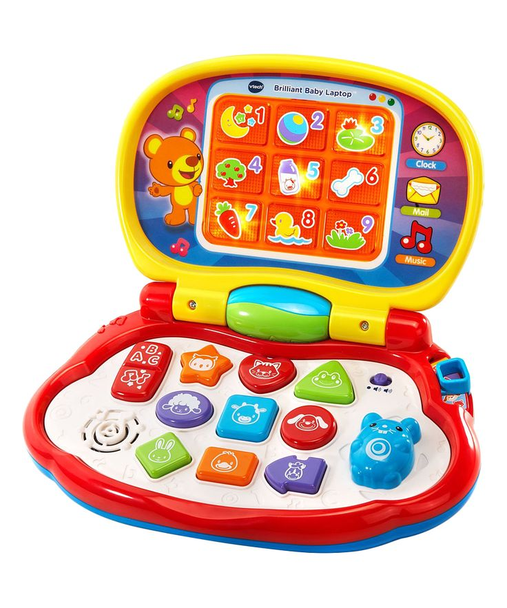 Yellow Brilliant Baby Laptop Vtech, Learning toys, Cool toys