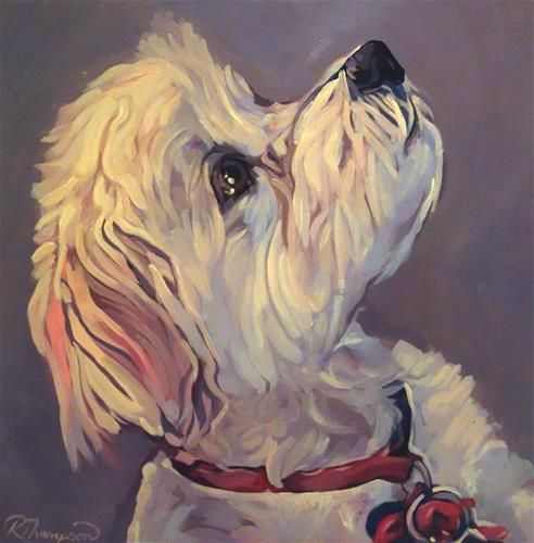 "Daily+Paintworks+-+""Snickers""+-+Original+Fine+Art+for+Sale+-+©+Rachel+Thompson"