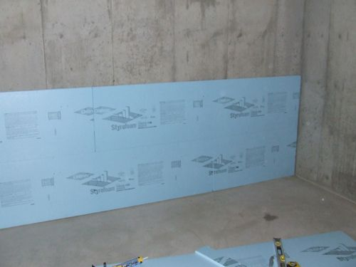blue board installation Basement Insulation