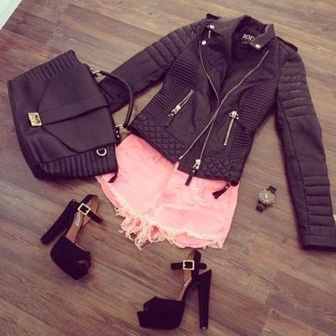 How to Chic: LEATHER JACKET - OUTFIT SET