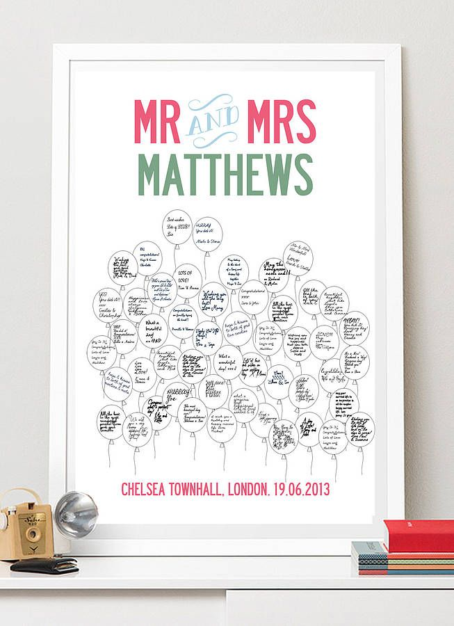 Personalised Wedding Guest Book / Poster from notonthehighstreet.com