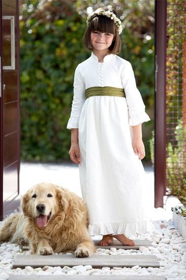 Vestido de comunión  MARTINA en Lino Sasco de De la dos a la doce.