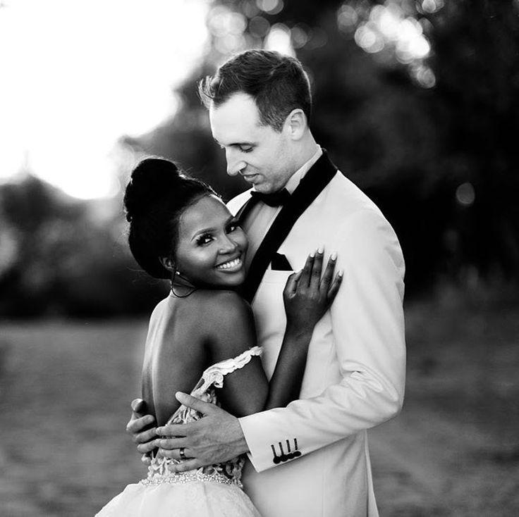 Gorgeous interracial couple on their wedding day #love #wmbw #bwwm #swirl #wedding
