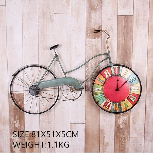 Cheap designer wall clock, Buy Quality wall clock directly from China wall clock design Suppliers:  Name:American Creative Bicycle Wall Clock Personality Bike Design Hanging Watch Retro Cycle Ornaments Home Decor
