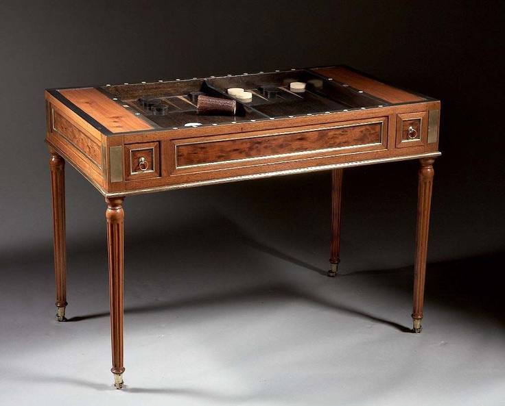 An 18th Century  Louis XVI Mahogany Tric Trac / Backgammon / Chess / Card Table