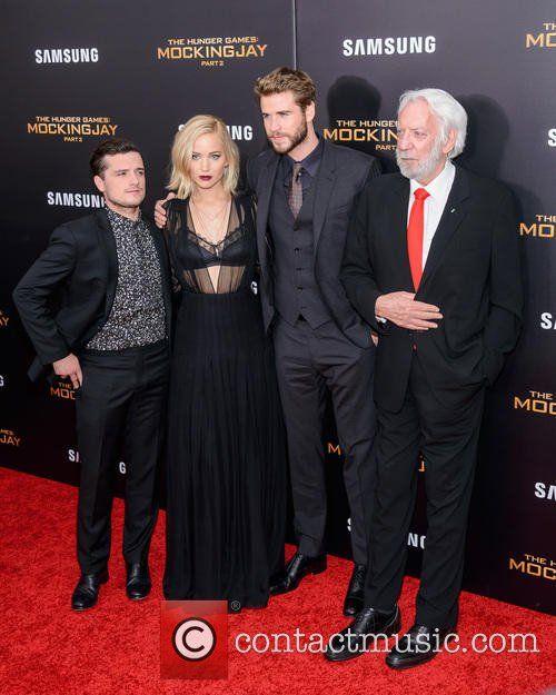 Josh Hutcherson, Jennifer Lawrence, Liam Hemsworth , Donald Sutherland - 'Hunger Games: Mockingjay pt 2' Special Screening at AMC Lincoln...