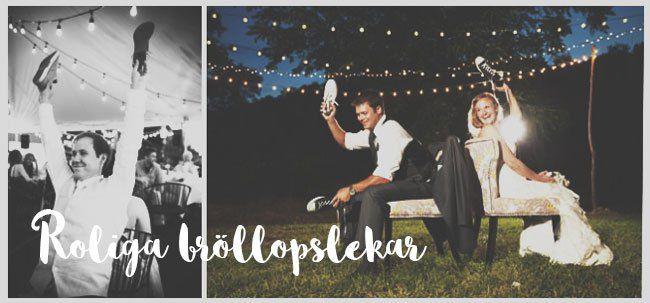 Roliga lekar till bröllopet