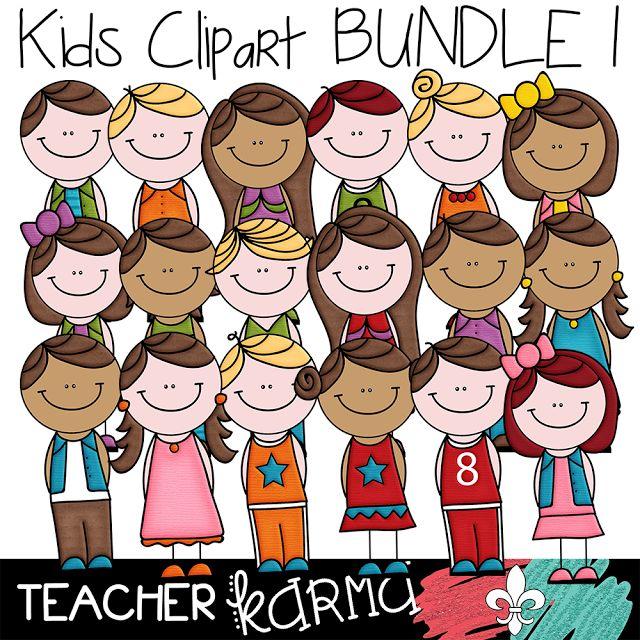 Kids Clipart Bundle TeacherKarma.com