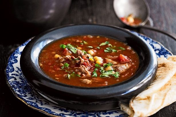 This hearty soup is full of the flavour of Morocco.