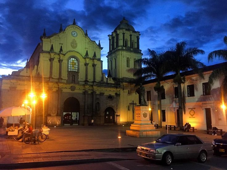 "One of the churches of Popayán also called ""La Ciudad Blanca"" (""white city"") in the dusk. This city in #Colombia seemed to have two very different faces. It was full churches and seemed to be very religious then on the other hand when nights decended there were lots of hookers drugs and gambling around. Hmm."