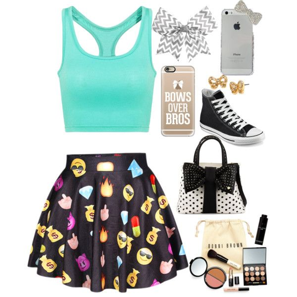 A fashion look from July 2015 featuring Converse sneakers, Betsey Johnson tote bags and Betsey Johnson earrings. Browse and shop related looks.