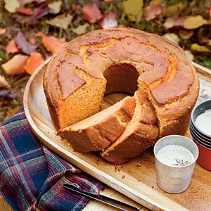 Sweet Potato Pound Cake  1 (8-oz.) package cream cheese, softened 1/2 cup butter, softened $ 2 cups sugar 4 large eggs $ 2 1/2 cups cooked, mashed sweet potatoes 3 cups all-purpose flour 2 teaspoons baking powder 1 teaspoon baking soda 1/4 teaspoon salt 1 teaspoon ground cinnamon or nutmeg (optional) 1 teaspoon vanilla extract