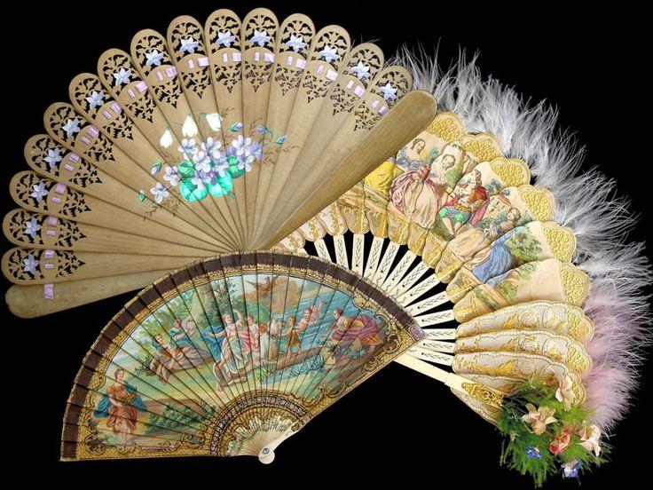 beautiful Victorian fans