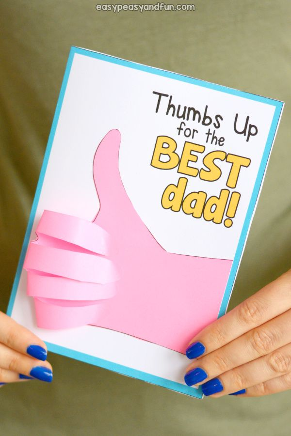 Father S Day Thumbs Up Card Idea For Kids Homemade Fathers Day Card Diy Father S Day Cards Dad Birthday Card